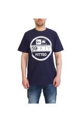 New Era Visor T Shirt Navy