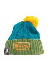 New Era Chunky Cable Knit Bobble Beanie