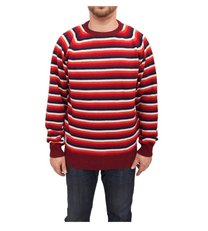 Addict Blanket Stripe Crew Knit Jumper