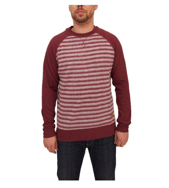 Native Youth Stripe Fleece Raglan Crew Jumper