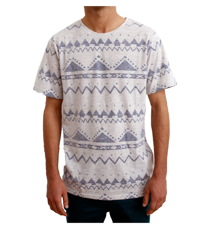 Native Youth Grey Reverse 90's Print T-Shirt