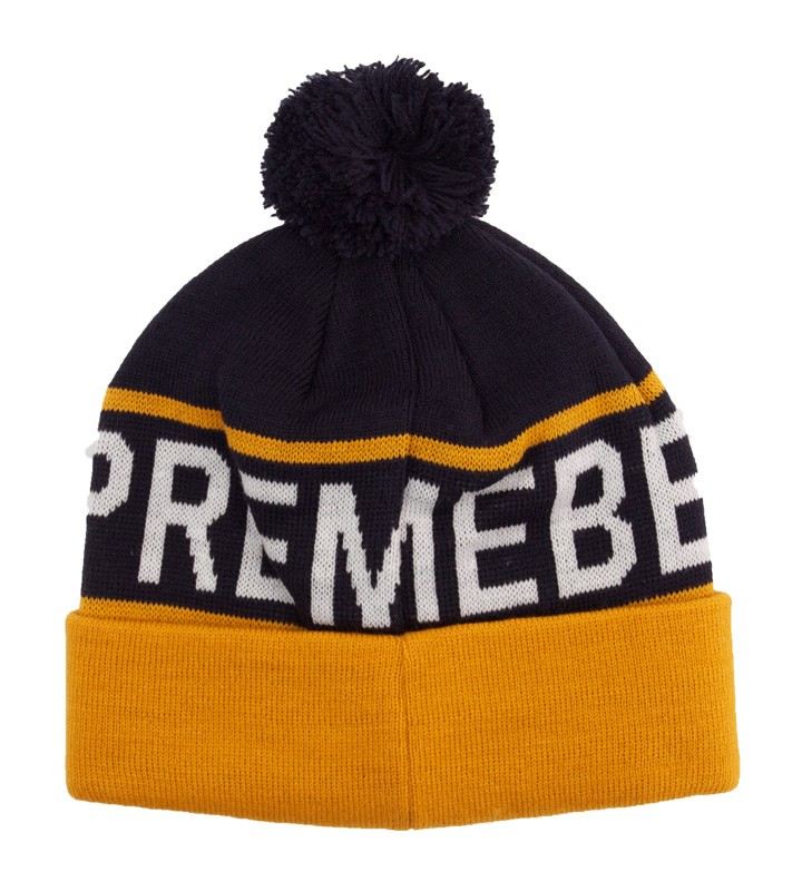 0272e14d0aa Supremebeing Blatant Bobble Hat Navy - Electrowear Clothing