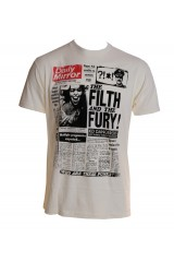 Kid Dangerous Newspaper Cream White Men's T-Shirt