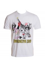 Kid Dangerous Brooklyn Zoo Men's White T-Shirt