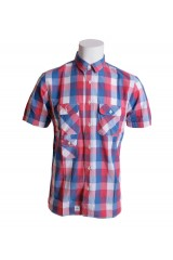 Addict Red Blue White Check Shirt