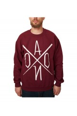 AONO Logo Crew Neck Jumper - Burgundy