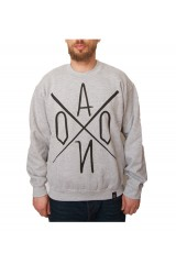 AONO Logo Crew Neck Jumper - Grey