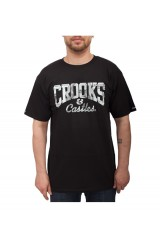 Crooks & Castles Currency Core Logo Snake Knit S/S T Shirt
