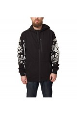Crooks & Castle Black Order Knit Zip Hoodie Black