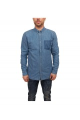 Dr Denim Ease Denim Shirt Ink Blue