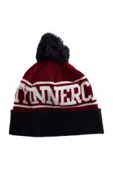 Innercity Navy / Burgundy Bobble Hat