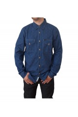 Lee 2 Pocket Shirt Washed Blue Label