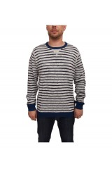 lee-striped crew knit-grey-mele-jumper