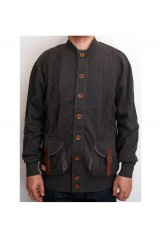 Marshall Artist Charcoal Grey Button Up Cardigan