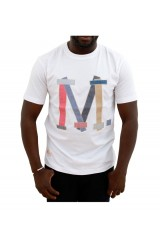 Marshall Artist White Patchwork T-Shirt