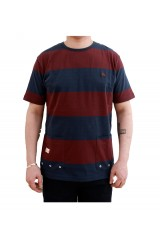 Marshall Artist Classic Navy Burgundy Striped T-Shirt