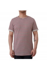 Native Youth Double Faced Burgundy Striped T-Shirt