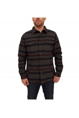 Native Youth Blanket Stripe Overshirt