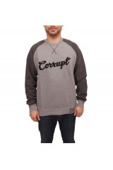 PXL Corrupt Applique Sweatshirt Grey