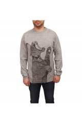 Supremebeing Circuit Knit Crew, Heather Marl