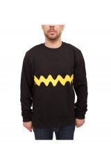 Trainerspotter Charlie Stripe Crew Black & Yellow