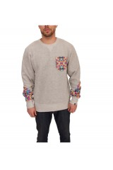 Two Angle Wavajo Crew Neck Jumper