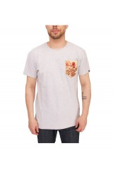 Two Angle Wocket Flower Pocket T Shirt