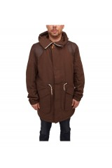 WeSC Elda Padded Hooded Parka - Dark Chocolate
