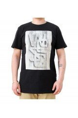 WeSC Wooden Logo Black T-Shirt