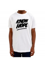 Yes No Maybe Know Hope Print White T-Shirt