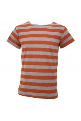 Junk de Luxe Ebbe Orange/Grey Stripe T-Shirt