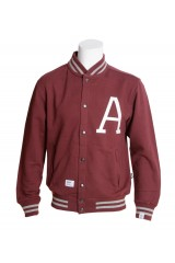Addict Red and White Varsity Jacket