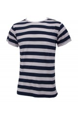 Junk de Luxe Ebbe Blue/White Stripe T-Shirt