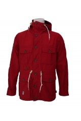 Addict Mountain Range Red Windcheater Jacket