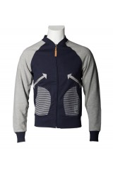 Trainerspotter Hawthorne Mens Grey/Black Jacket