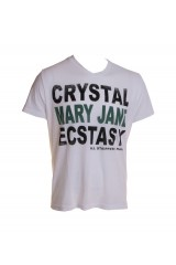 Dirtee Hollywood Crystal White T-Shirt