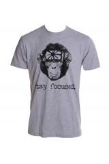 Kid Dangerous Stay Focused Mens Grey T-Shirt