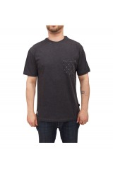 Addict Lightning Mens Black Pocket T Shirt