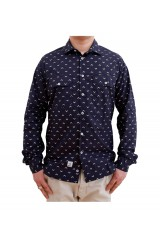 Addict Navarrow Field Navy White Shirt