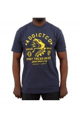 Addict X KDU Don't Tread Print Navy T-Shirt