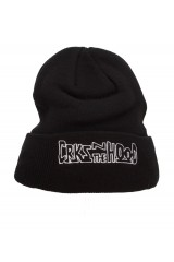 Crooks & Castle CRKS IN THE HOOD Beanie Hat Black