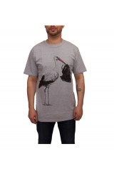 Galleria-T BORN TO BE A LIE Mens Grey T Shirt