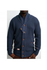 Marshall Artist Blue Shawl Collar Mens Cardigan