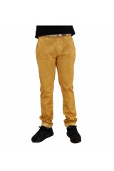 Two Angle Ceylann Mens Mustard Yellow Chinos