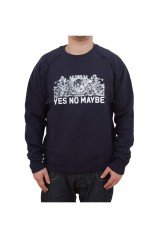 Yes No Maybe Crest Crew Neck Jumper